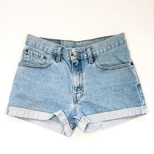 Vtg 80's Levi's High Rise Mom Cuffed Jean Shorts